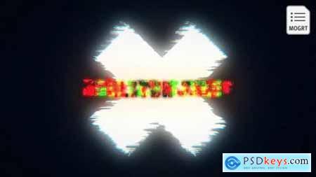 Glow Glitch Title Reveal 27880565