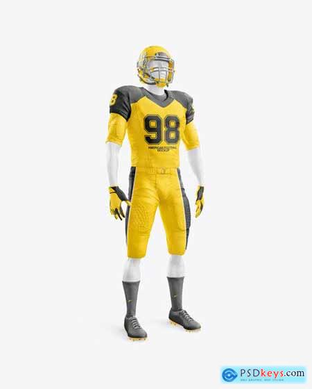 American Football Kit Mockup with mannequin half side view 63373