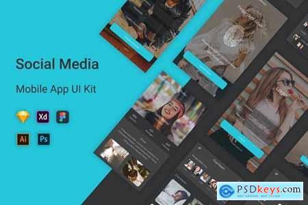Social Media Mobile App UI Kit