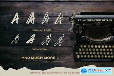 Kotoba Dua - 22 Font styles 5086349