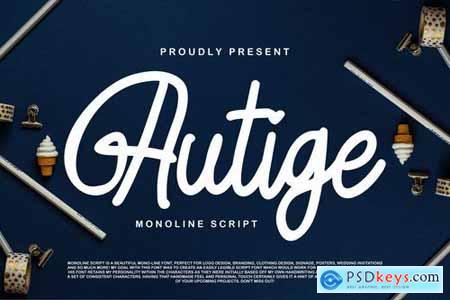 Autige Monoline Script
