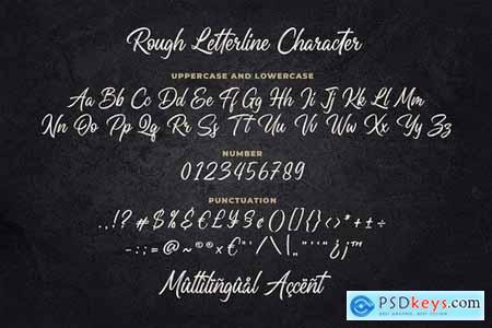 Rough Letterline Authentic Brush Font 5186060