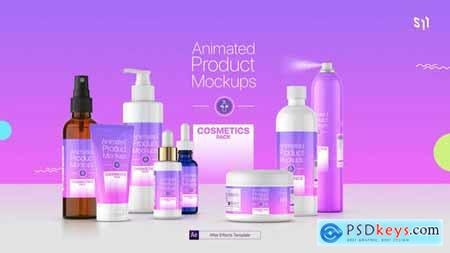 Animated Product Mockups Cosmetics Pack 25513188