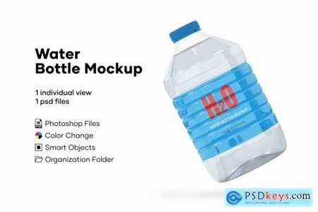5L Clear PET Water Bottle Mockup 5233942