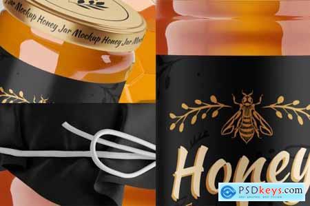 Honey Glass Jar Mockup Set