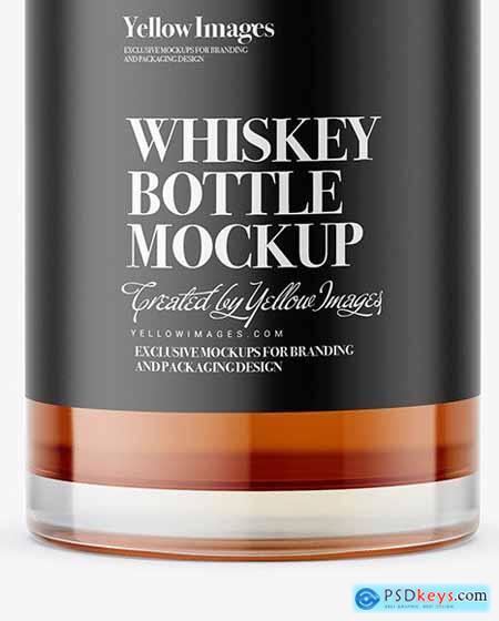 Clear Glass Alcohol Bottle Mockup 64302
