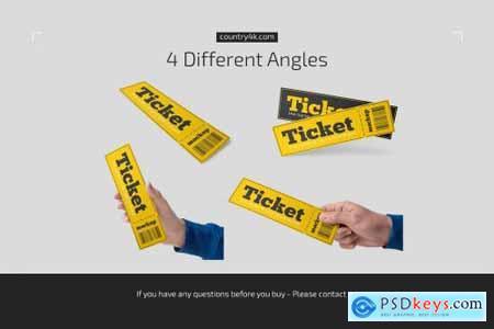 Paper Ticket Mockup Set 5232782