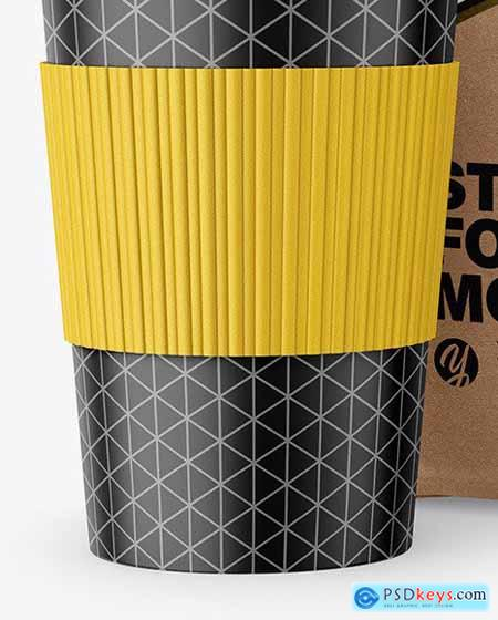 Kraft Stand-Up Bag with Coffee Cup 64783