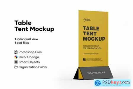 Plastic Table Tent Mockup 5242102
