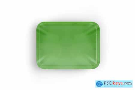 Plastic Tray With Champignon Mockup 5242199