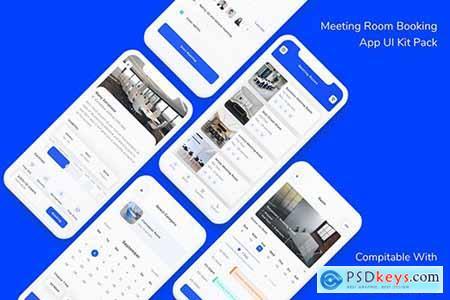 Meeting Room Booking App UI Kit Pack
