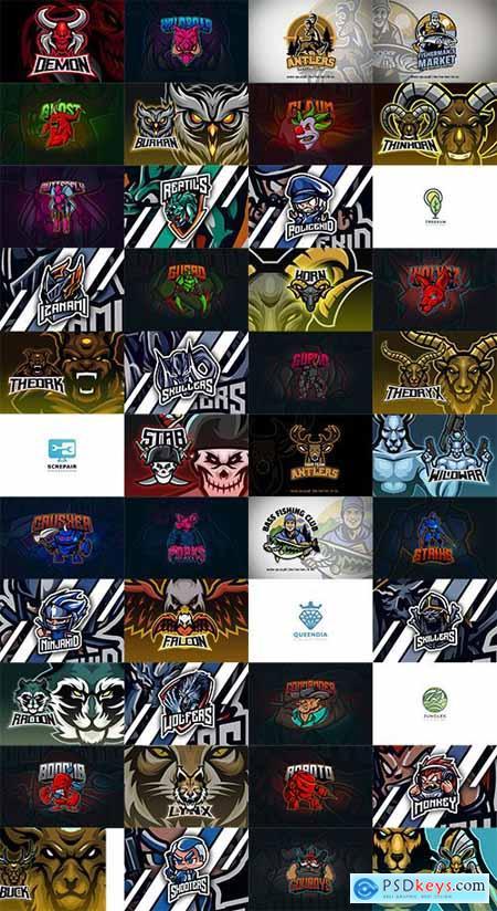 46 Mascot and Esport Logos Pack