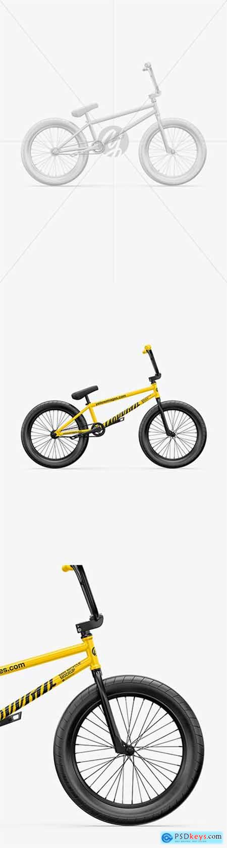 BMX Bicycle Mockup - Right Side View 64708