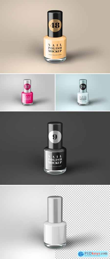 Nail Polish Bottle Mockup 368310214