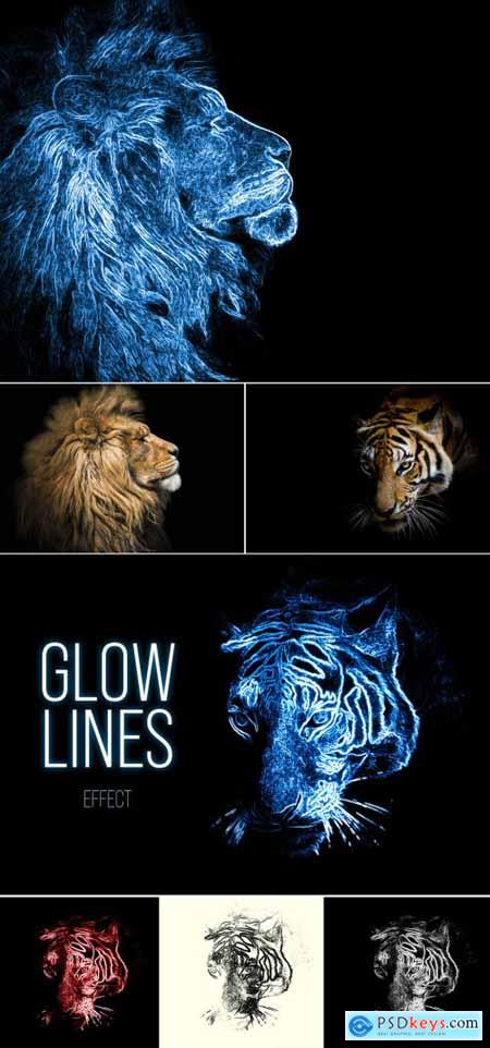 Glowing Image Effect Mockup 368501706