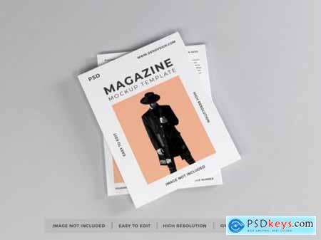 Realistic magazine mockup template