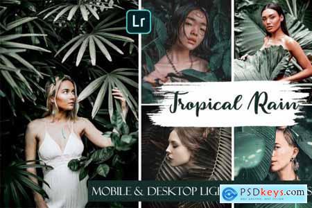Tropical Rain Mobile & Desktop Presets - Summer ligthroom presets