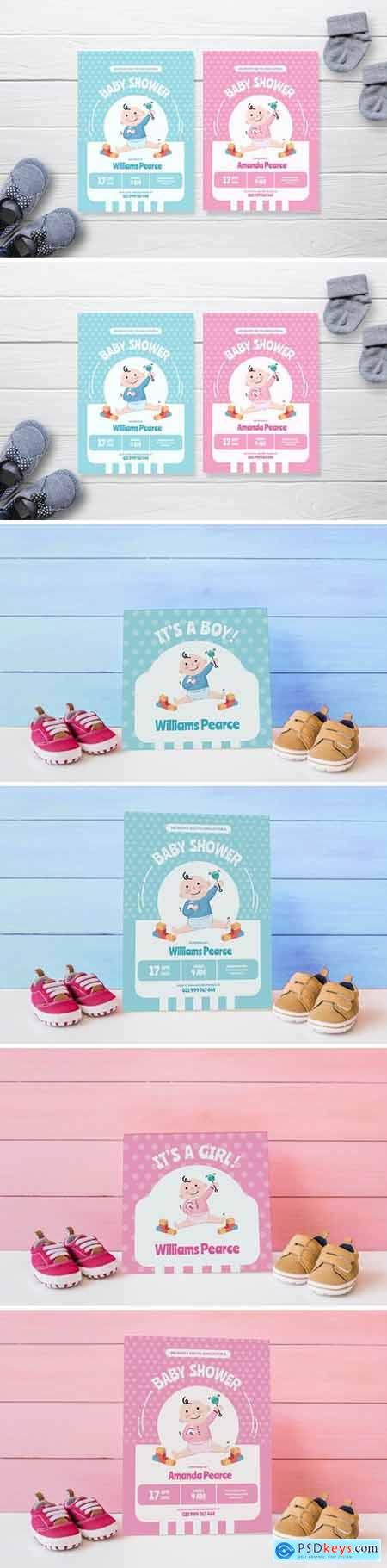 Simple Baby Playground - Baby Shower Invitation