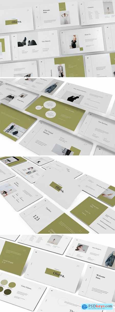Olieva - Branding Guidelines Powerpoint, Keynote and Google Slides Templates