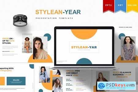 Stylean - year - Powerpoint, Keynote, Googleslide