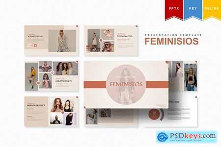 Feminisios - Powerpoint, Keynote, Googleslide