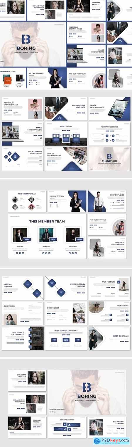 Boring - Business Powerpoint, Keynote and Google Slides Templates
