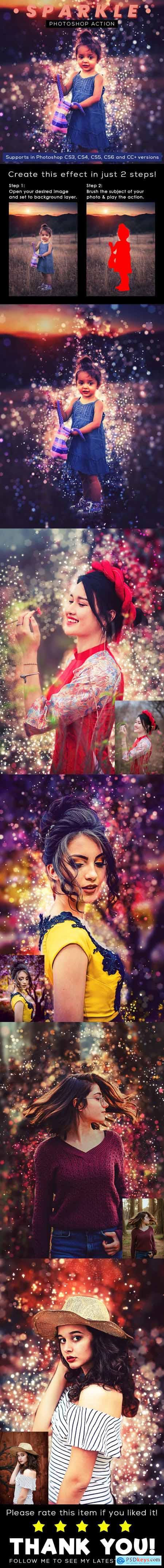 Sparkle Photoshop Action 26451786