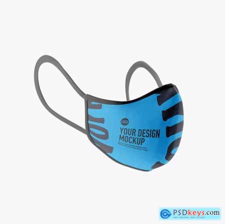 Medical face Mask mockup 5239614