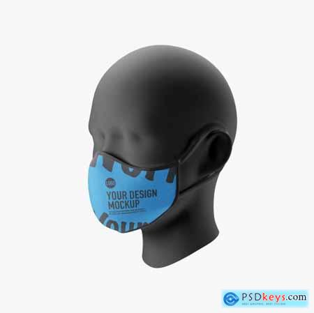 Medical face Mask mockup 5239604