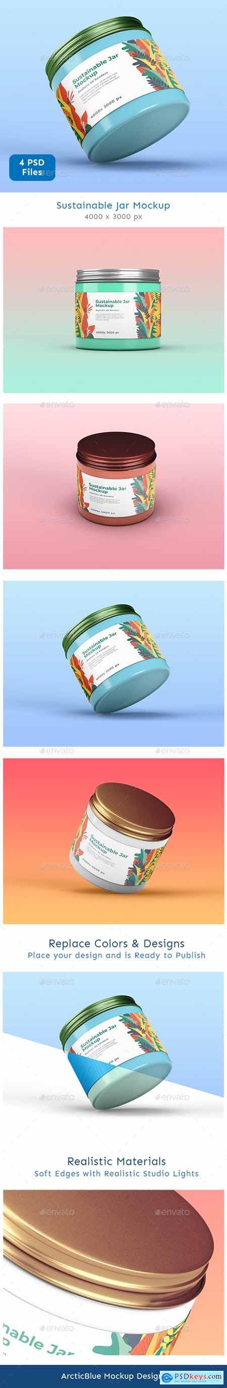 Sustainable Jar Mockup 26477469