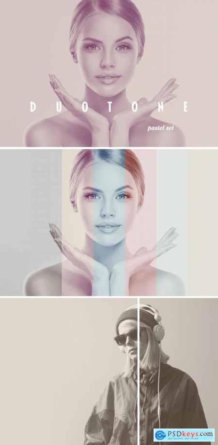 Duotone Photo Effect Mockup with Halftone Overlay 369277521