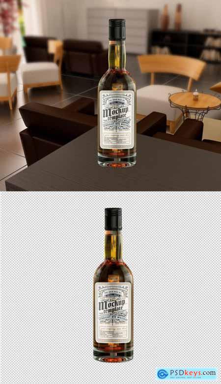 Vintage Liquor Bottle Packaging Mockup 369284783
