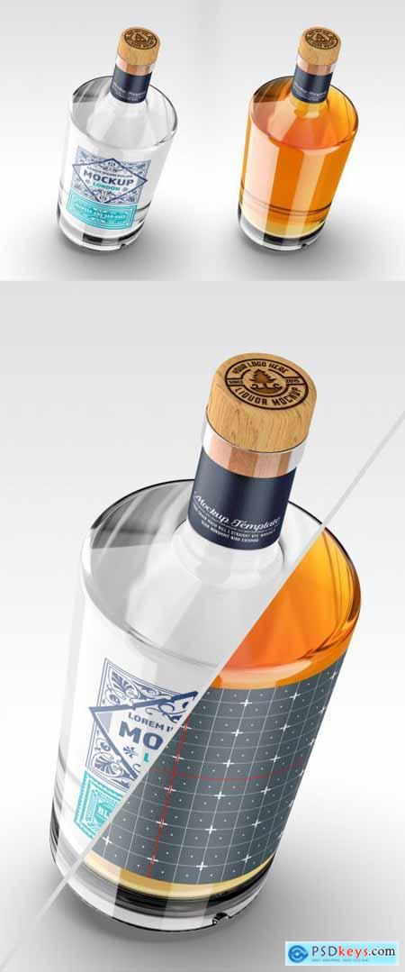 Vintage Liquor Bottle Packaging Mockup 369283504