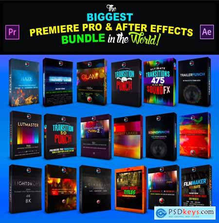 CINEPUNCH (BUNDLE) Transitions I Color LUTs I SFX 18 PACKS 9999+ Assets V20 20601772