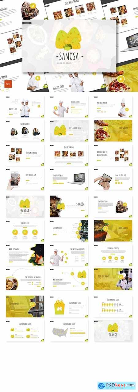 Samosa - Culinary Powerpoint, Keynote, Googleslide Template