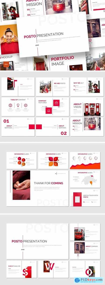 Posto - Business Powerpoint, Keynote, Googleslide Template