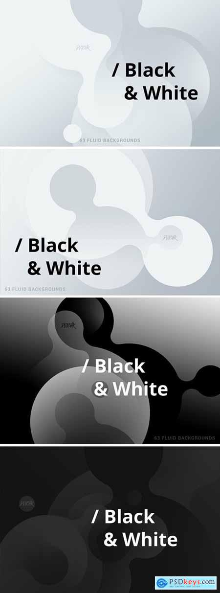 Black & White - Soft Fluid Backgrounds