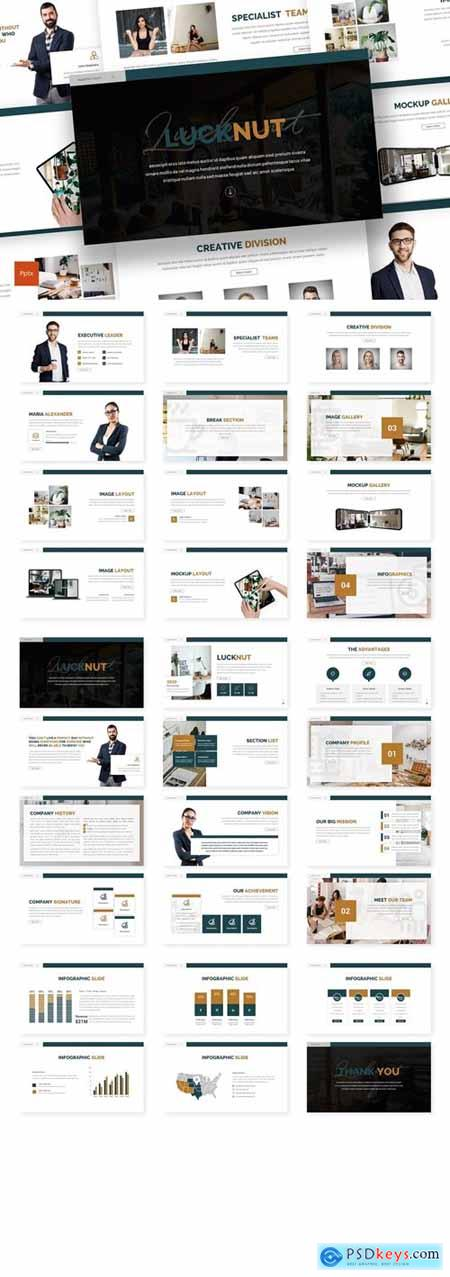 Lucknut - Business Powerpoint, Keynote, Googleslide Template