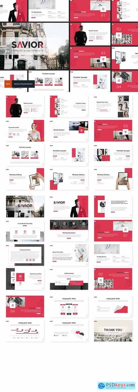 Savior - Business Powerpoint, Keynote, Googleslide Template