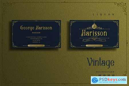 Vintage Elegant Theme - Liquor Businesscard