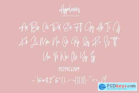 Hypoluxes Handwritten Signature Brush Typeface