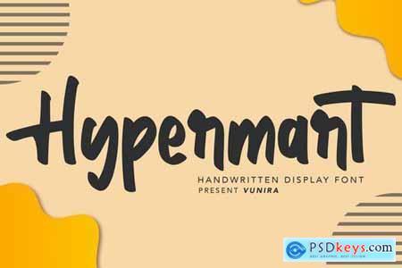Hypermart Handwritten Display Font
