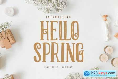 Hello Spring Fancy Serif Duo Font