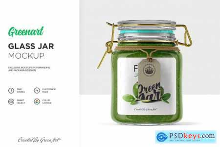 Clear Glass Jar Mockup 2342720