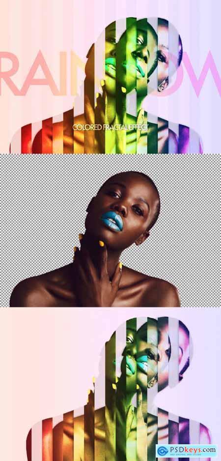 Rainbow Sliced Photo Effect 369353175
