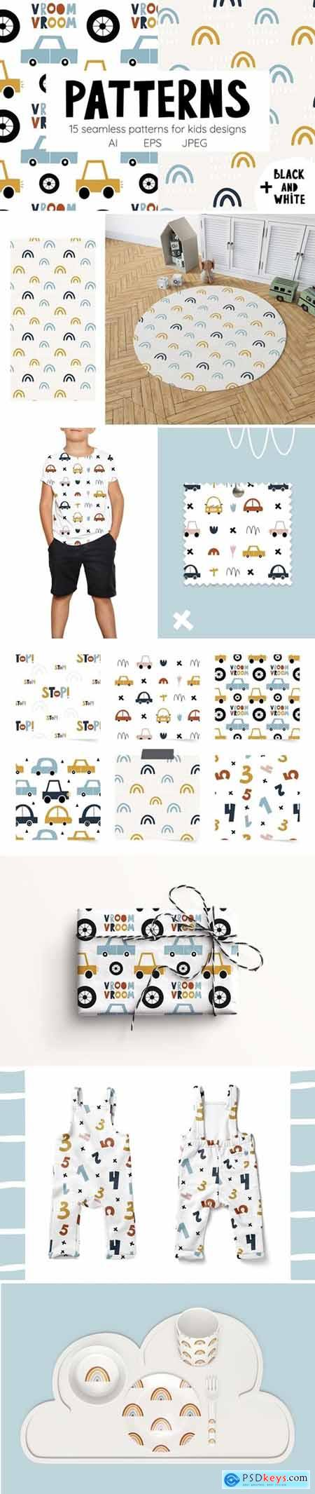 Сute cars Patterns collection 4634351