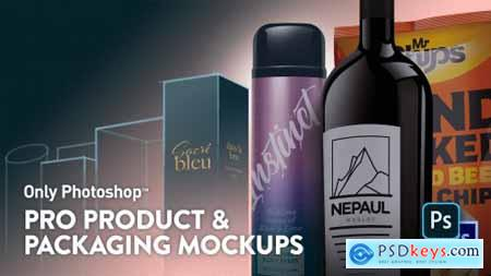 Only Photoshop Pro Product & Packaging Mockups