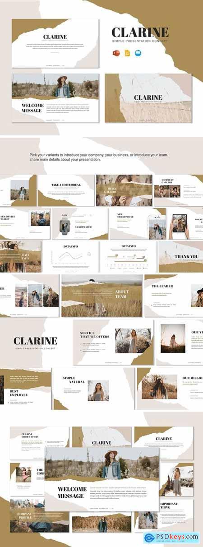 Clarine - Presentation Template