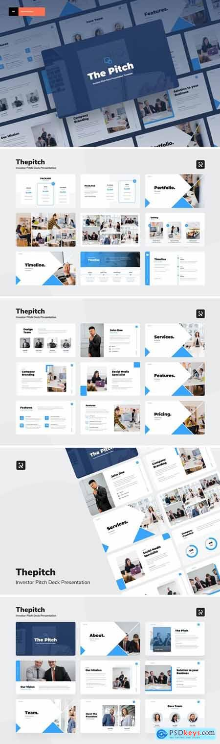 Thepitch - Investor Pitch Deck Powerpoint, Keynote, Googleslide Template