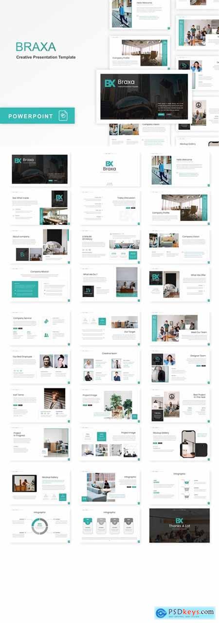Braxa - Creative Powerpoint, Keynote, Googleslide Template